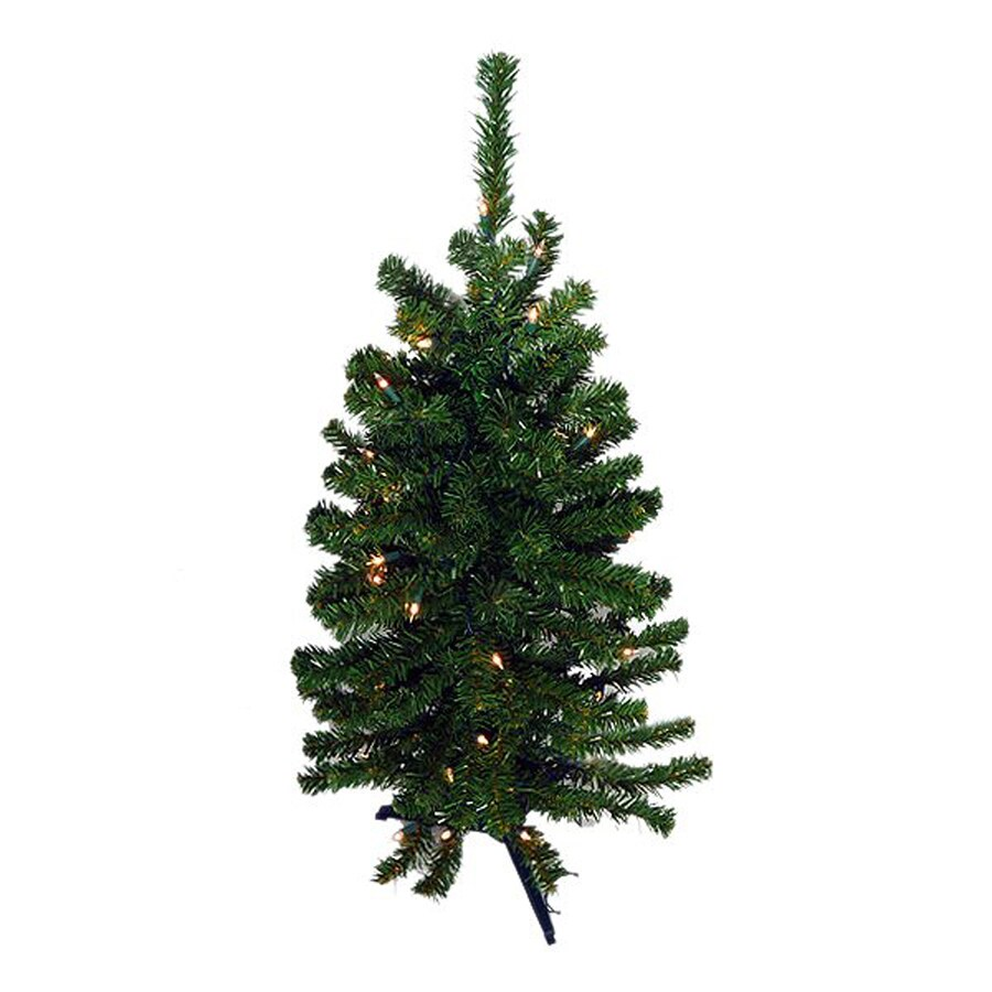 Northlight 3-ft Pre-lit Slim Artificial Christmas Tree with 100 Warm White LED Lights