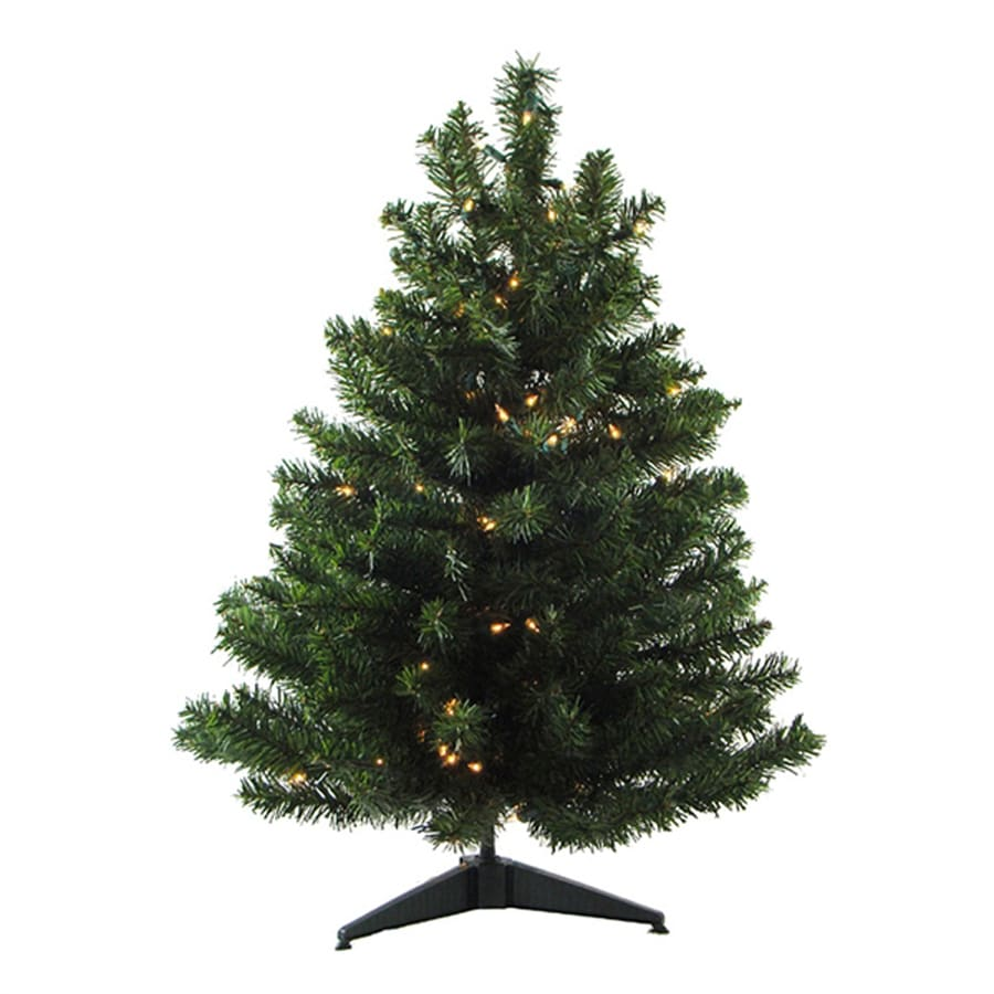 Northlight 3-ft Pre-lit Mixed Needle Artificial Christmas Tree with 100 Clear White Incandescent Lights