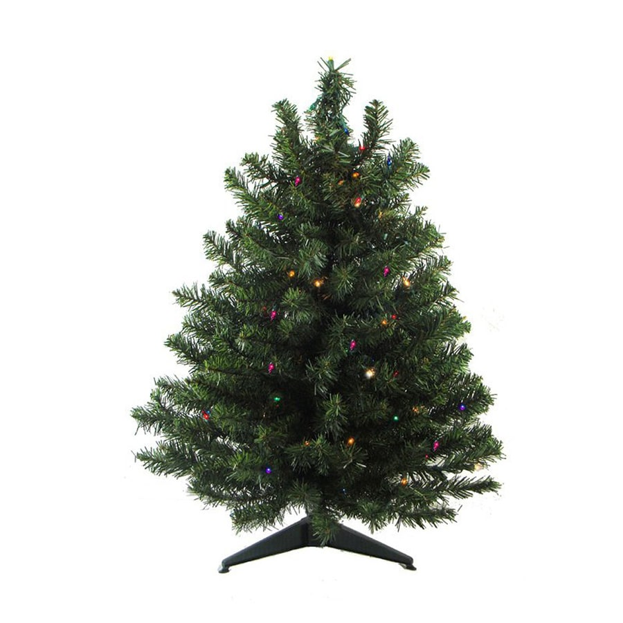 shop northlight 3 ft pre lit mixed needle artificial christmas tree with 50 multicolor led. Black Bedroom Furniture Sets. Home Design Ideas