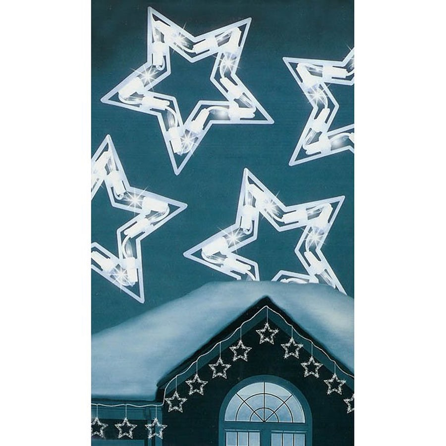 Northlight 100-Count 8.9-ft Twinkling Clear White Star Indoor/Outdoor Christmas String Lights