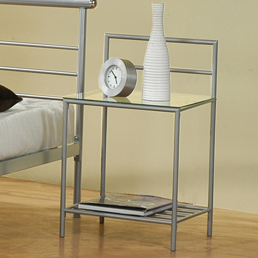Coaster Fine Furniture Silver Nightstand