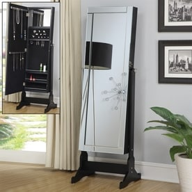 Coaster Fine Furniture Black Cheval Mirror Jewelry Armoire