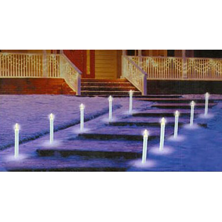 Northlight 10-Marker White Incandescent Candles Christmas Pathway Markers