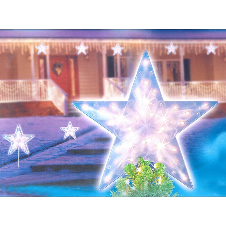 Northlight 1-Marker White Incandescent Star Christmas Pathway Marker/Tree Topper