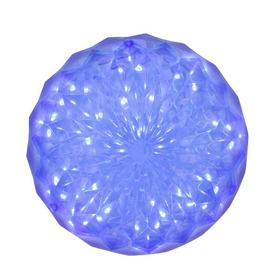 Northlight 6-in Hanging Ball Sculpture with Constant Blue LED Lights