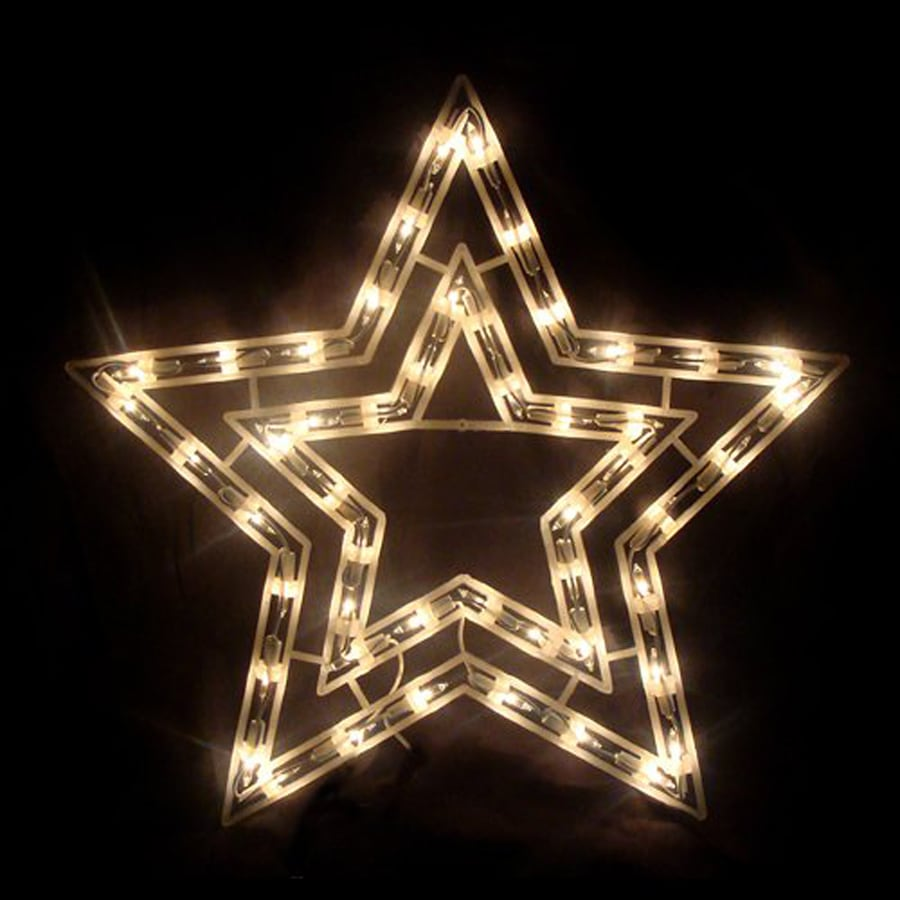 Northlight 1-ft 5-in Freestanding Star Window Cling with Constant White Incandescent Lights