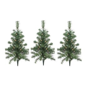 northlight 3 marker white incandescent light christmas tree pathway markers - Christmas Tree Pathway Lights