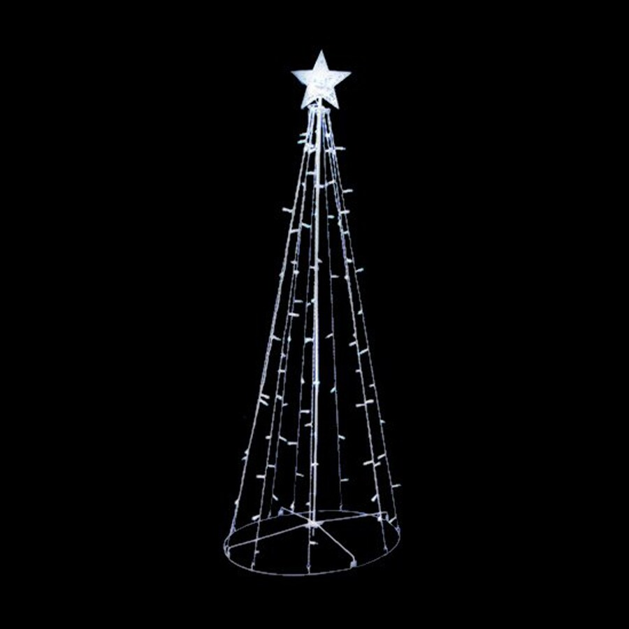 Northlight 5-ft Freestanding Tree Sculpture with Twinkling White LED Lights