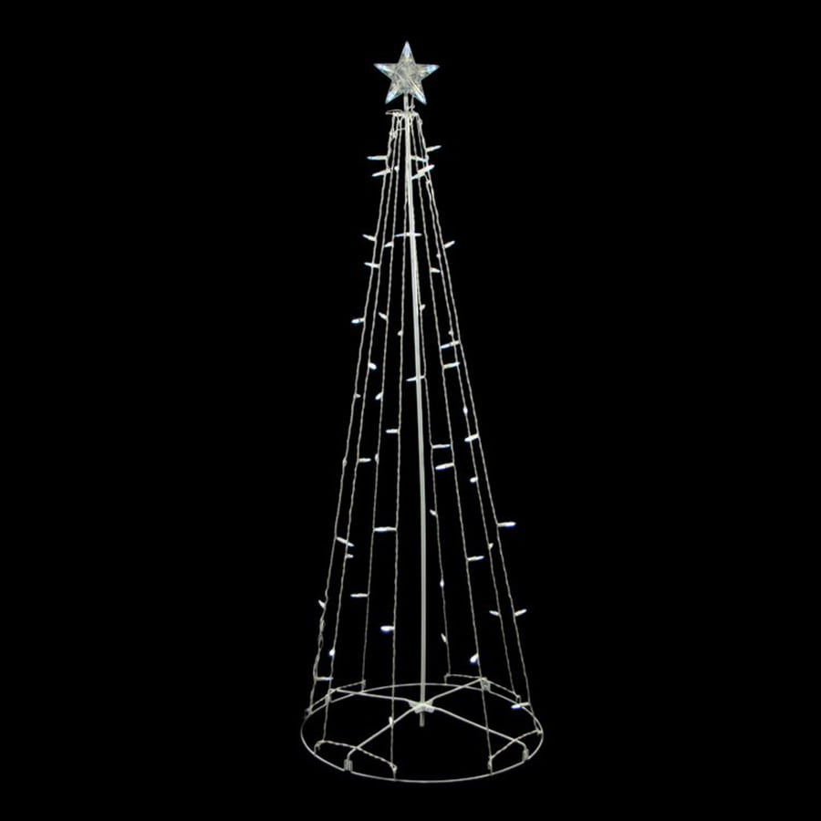 Northlight 5-ft Freestanding Tree Sculpture with Constant White LED Lights