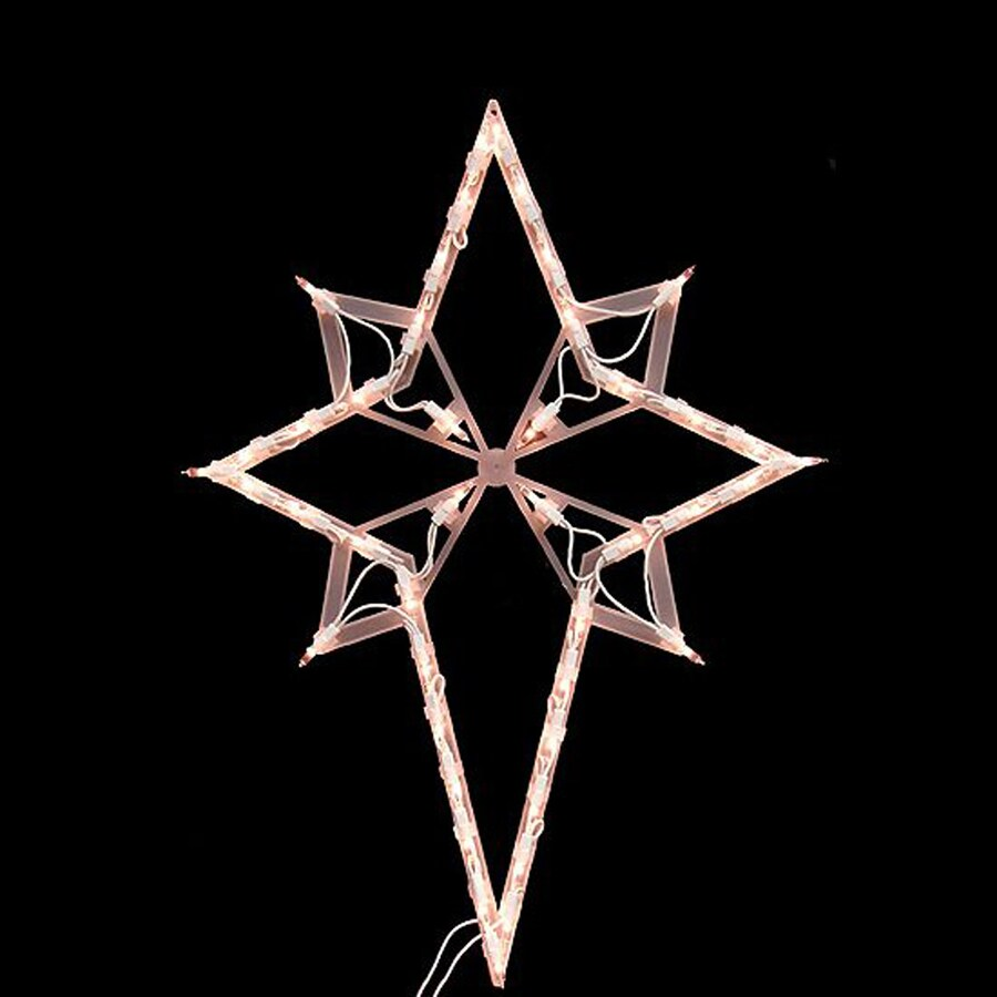 Northlight 1-ft 9-in Hanging Bethlehem Star Window Cling with Constant White Incandescent Lights