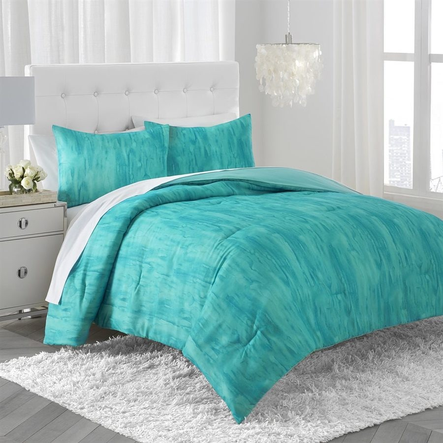 Amy Sia Lucid Teal Twin Polyester Quilt