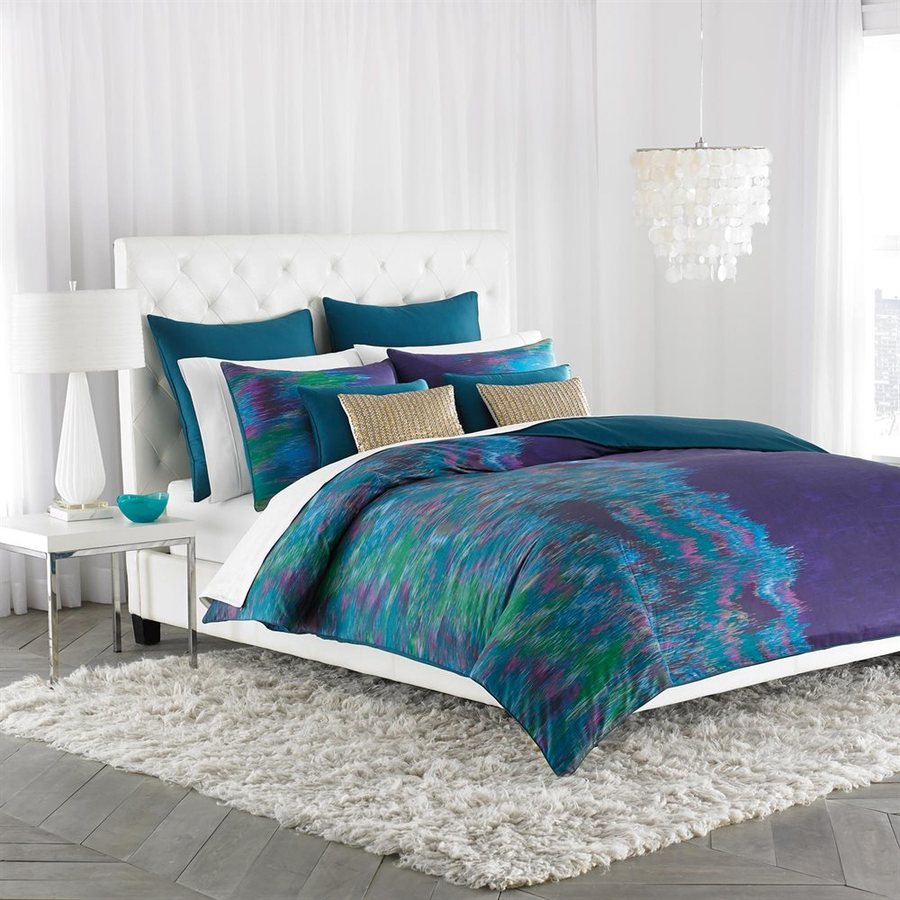 Amy Sia Midnight Storm Watercolor King Polyester Comforter