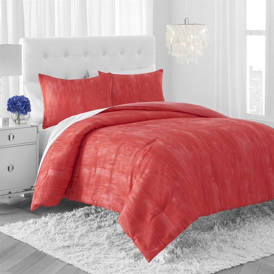 Amy Sia Lucid Coral Full/Queen Polyester Quilt Set