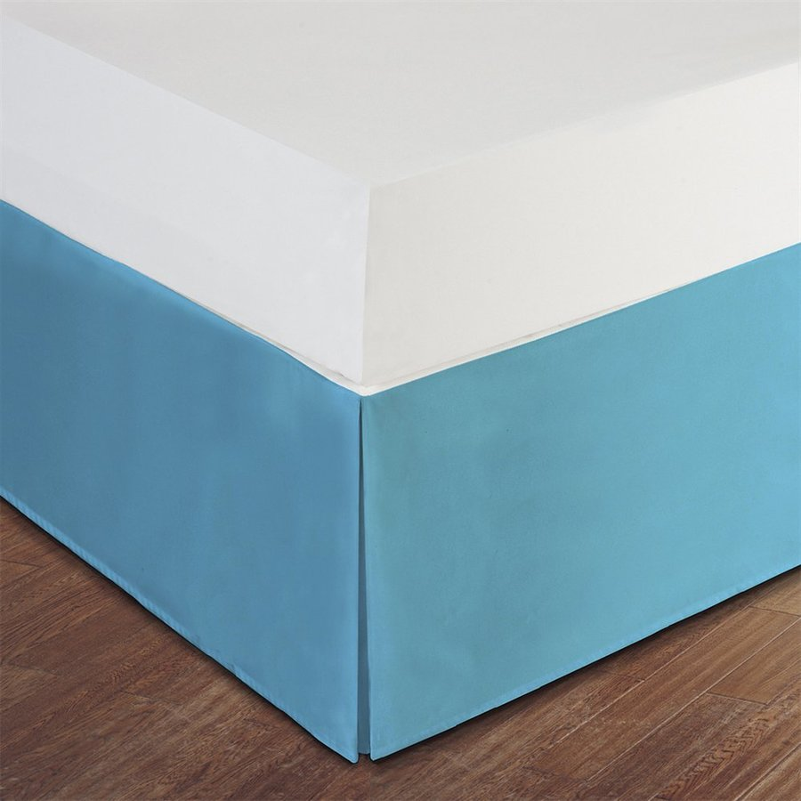 Levinsohn Textile Company Lux Hotel Turquoise Twin Extra Long 14-in Bed Skirt