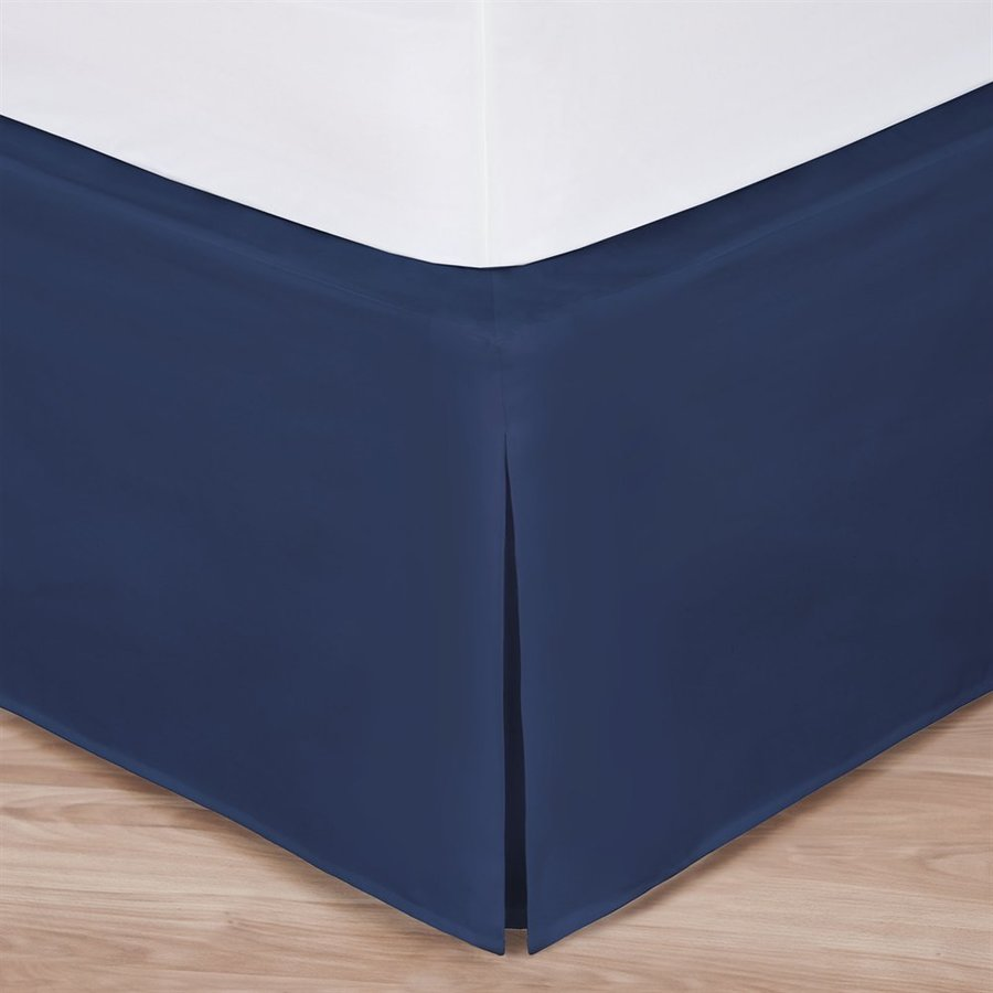 Levinsohn Textile Company Navy Twin 14-in Bed Skirt