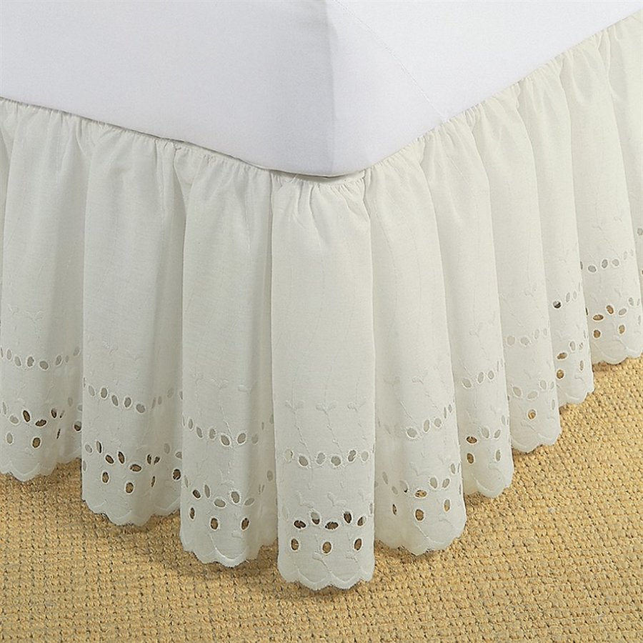Levinsohn Textile Company Fresh Ideas Ivory King 14-in Bed Skirt