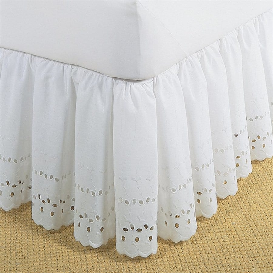 Levinsohn Textile Company Fresh Ideas White California King 14-in Bed Skirt