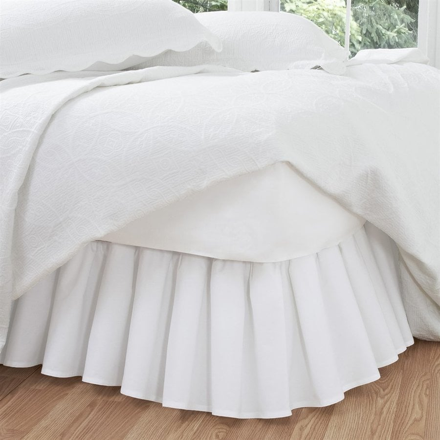 Levinsohn Textile Company Fresh Ideas White Queen 14-in Bed Skirt