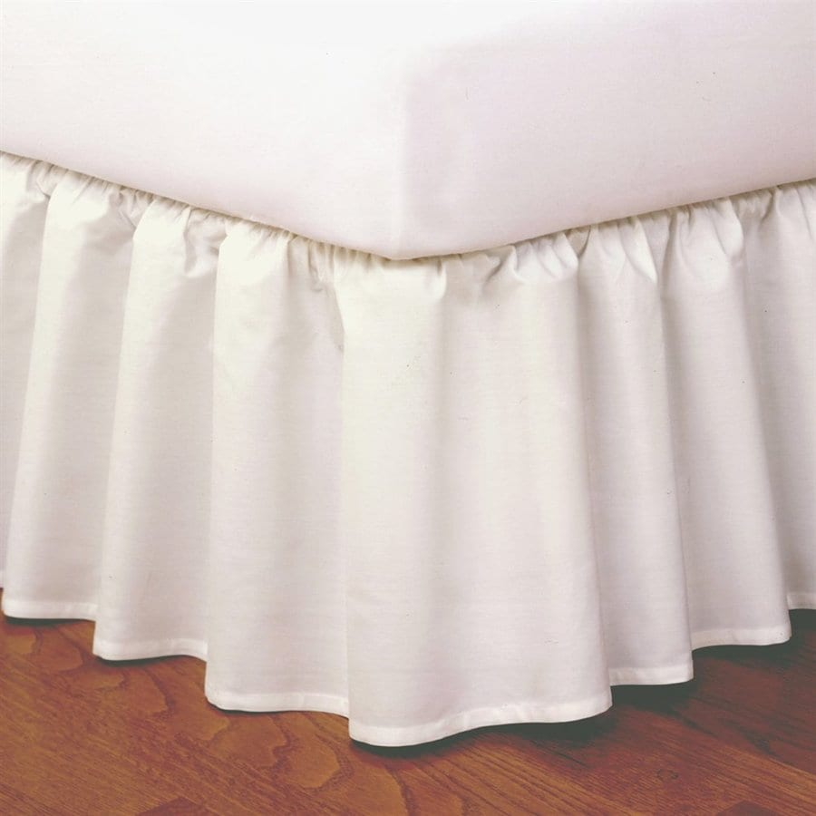 Levinsohn Textile Company Ivory Twin 14-in Bed Skirt