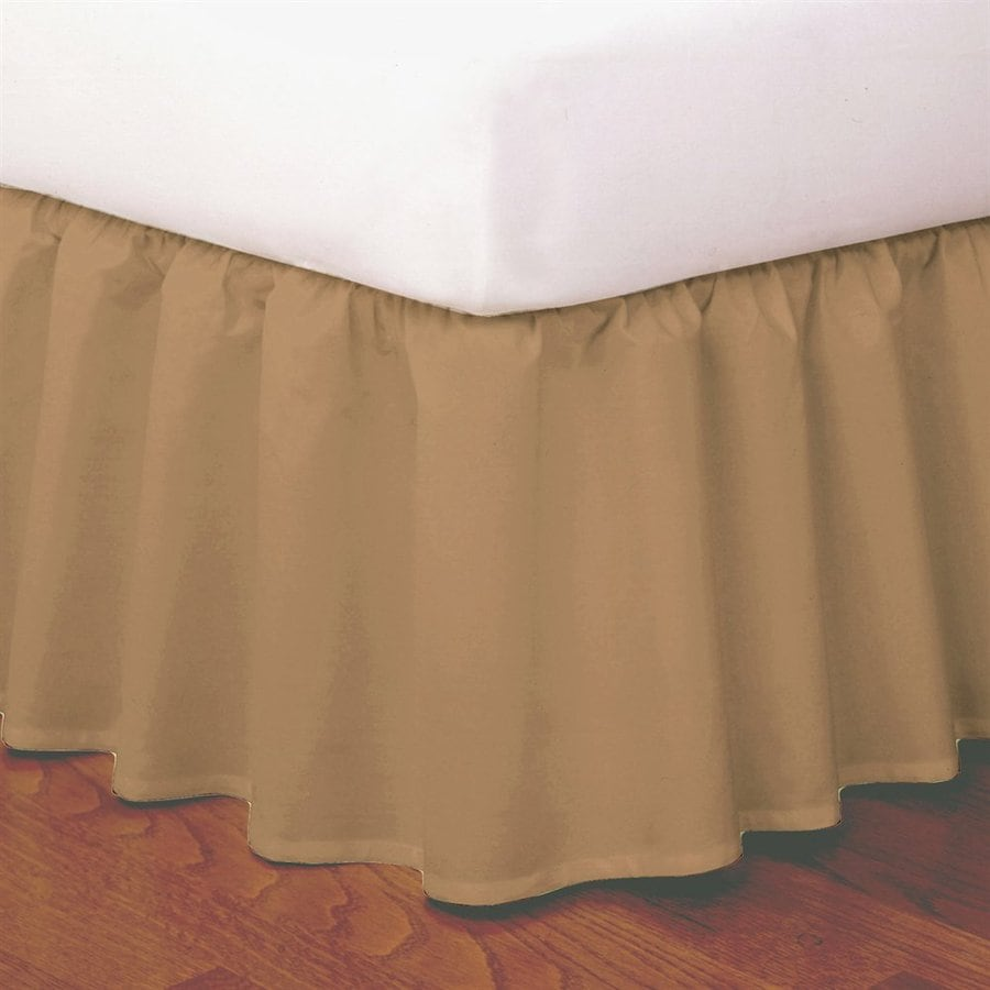 Levinsohn Textile Company Mocha King 14-in Bed Skirt
