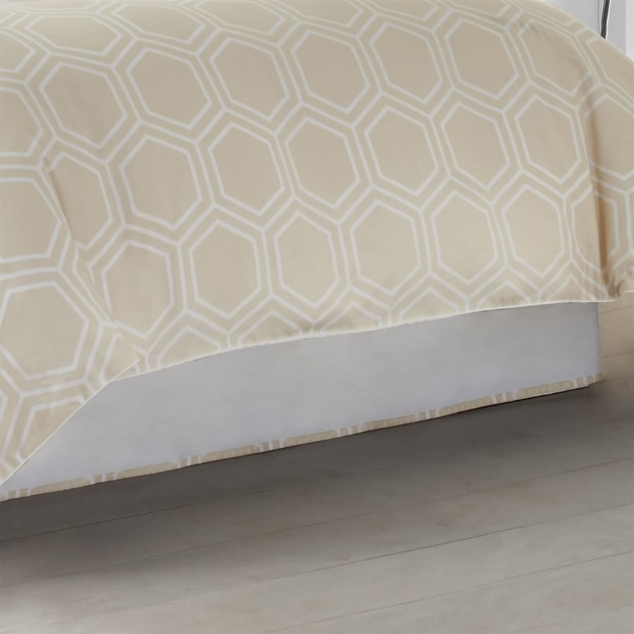 Jill Rosenwald by WestPoint Home Blackpoint Parchment Beige Full 15-in Bed Skirt