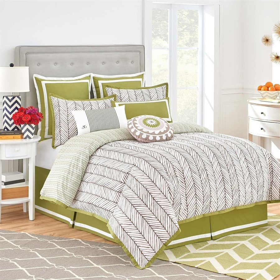 Jill Rosenwald by WestPoint Home Arrows Brown/White California King Polyester Comforter