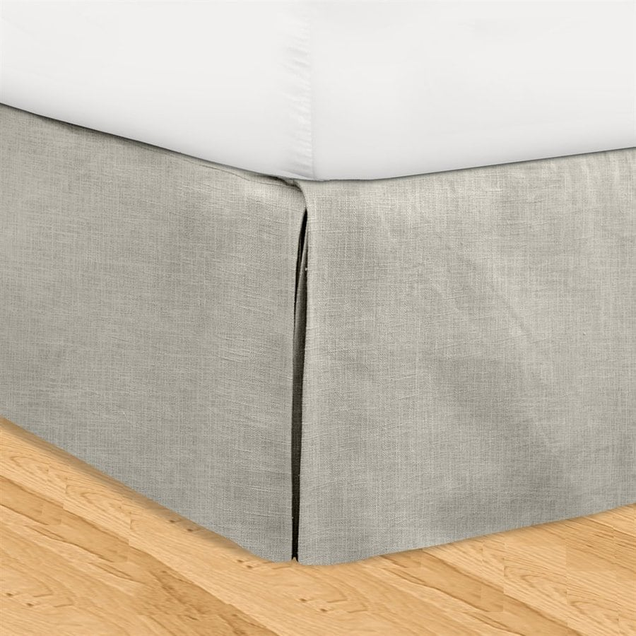Veratex Huys Gray King 16-in Bed Skirt