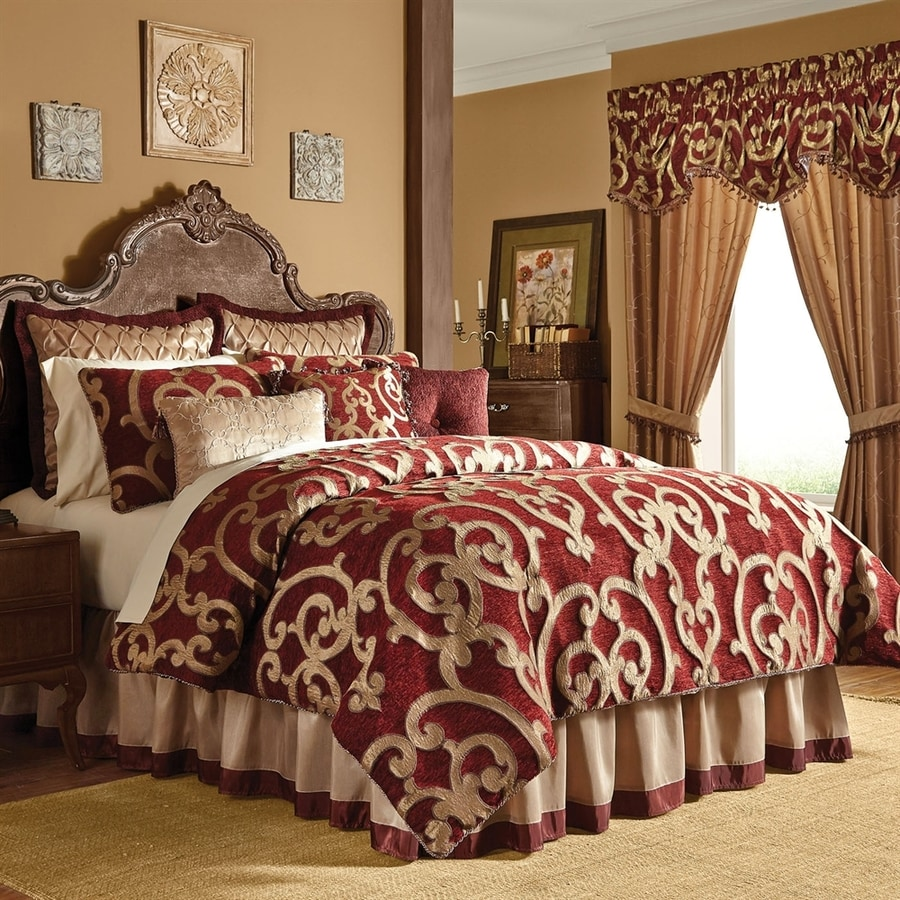 Veratex Corsica Gold Red Queen Polyester Comforter At