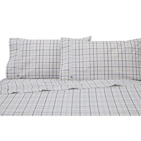 izod by westpoint home windowpane plaid twin cotton blend sheet set