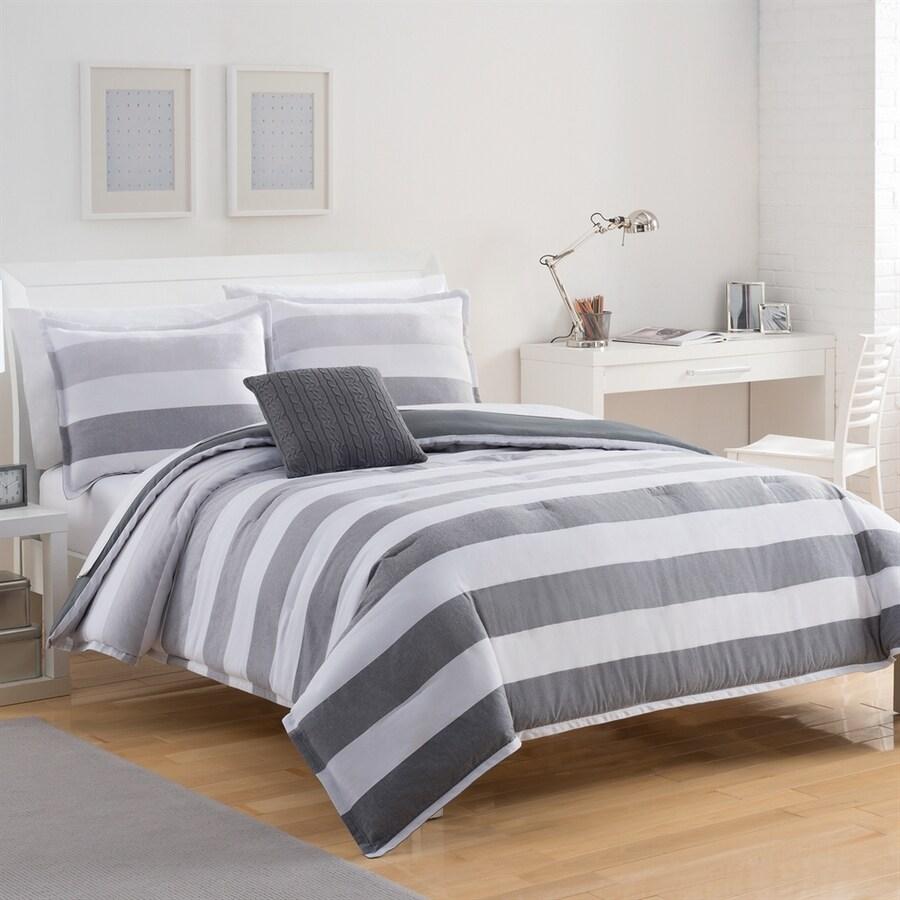 IZOD by WestPoint Home Brandon Grey Twin Polyester Comforter