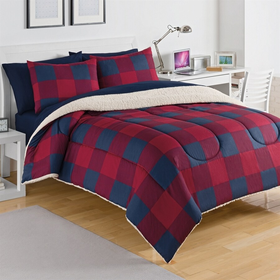 IZOD by WestPoint Home Buffalo Red/Navy Twin Comforter