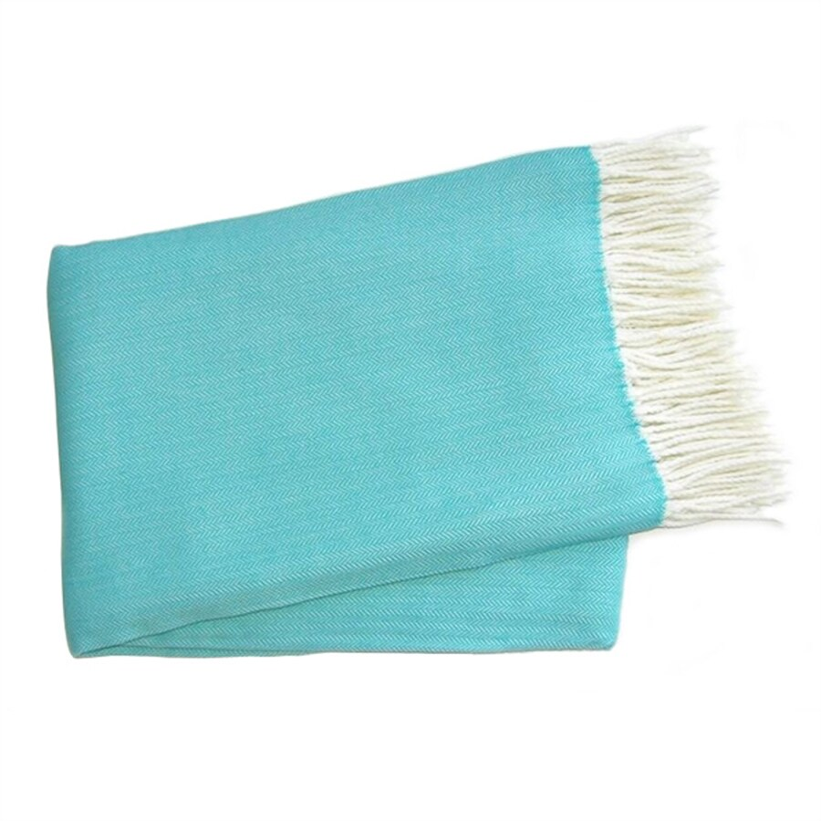 A Soft Idea Turquoise 60-in L x 50-in W Acrylic Throw