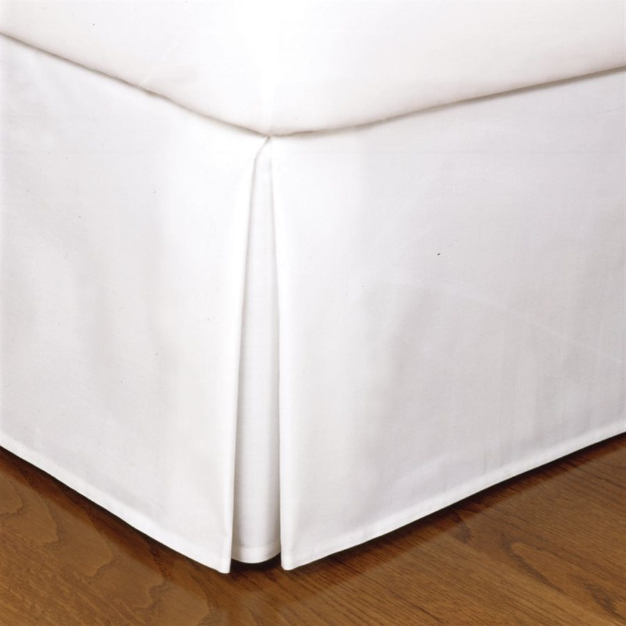 Levinsohn Textile Company Fresh Ideas White Twin 14-in Bed Skirt