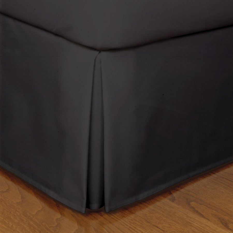 Levinsohn Textile Company Fresh Ideas Black King 14-in Bed Skirt