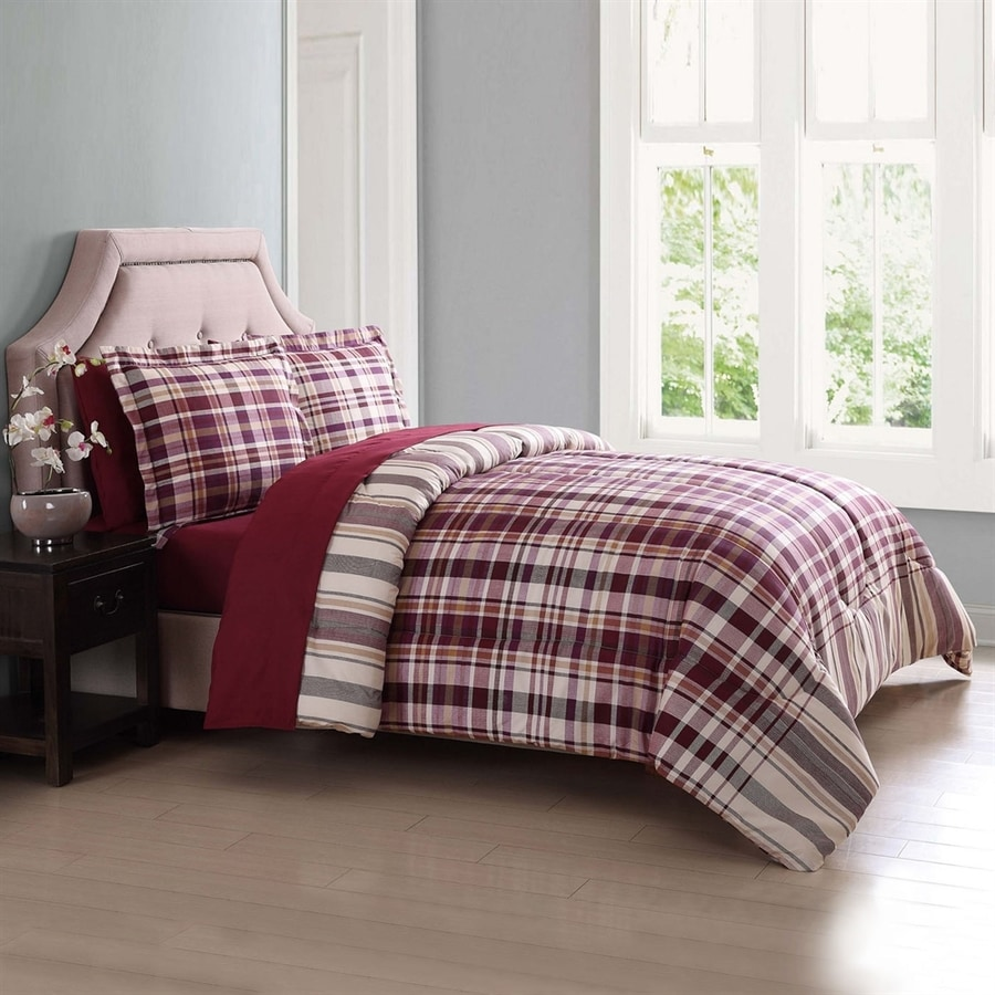 PEM America Outlet London Fog Red Twin Polyester Comforter