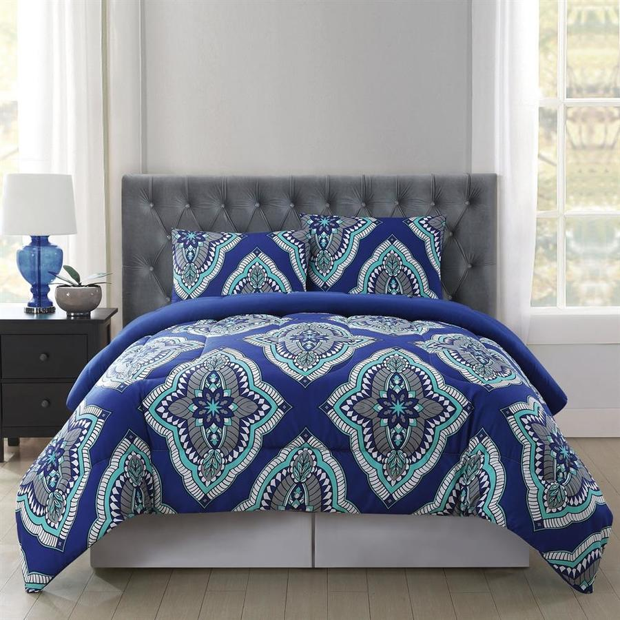 PEM America Outlet Truly Soft Harper Blue Twin Polyester Comforter