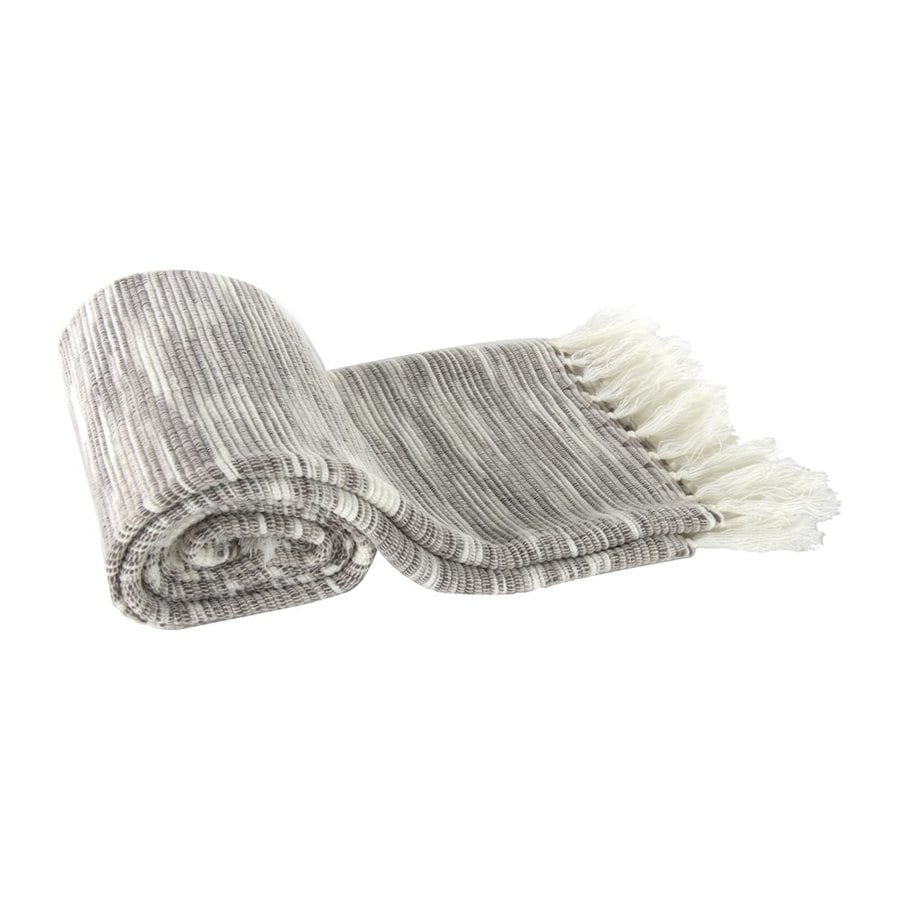 A&B Home Textured Gray 60-in L x 50-in W Acrylic Throw