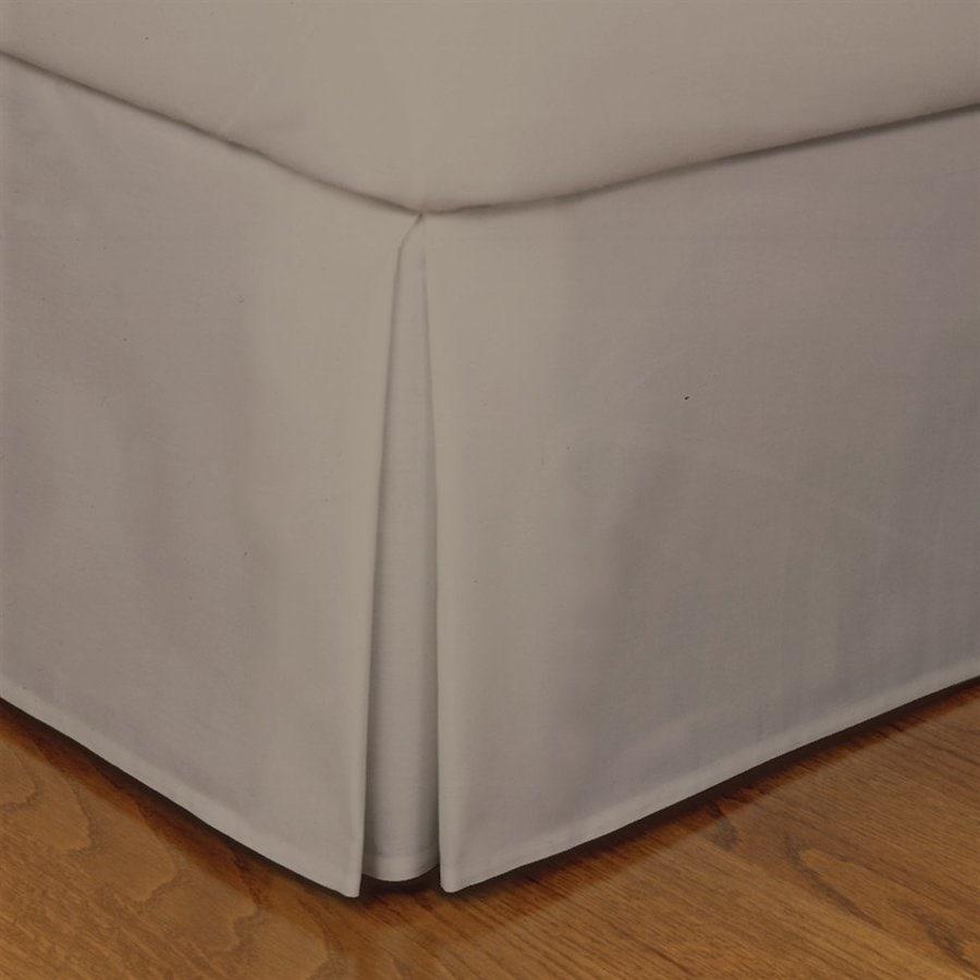 Levinsohn Textile Company Fresh Ideas Mocha Twin 14-in Bed Skirt