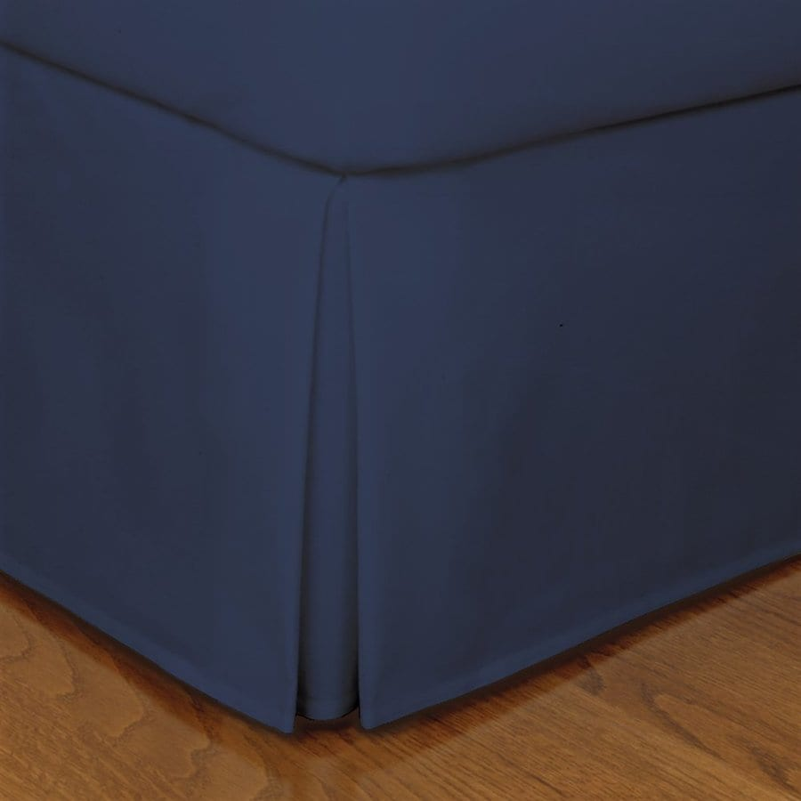 Levinsohn Textile Company Fresh Ideas Navy Twin 14-in Bed Skirt