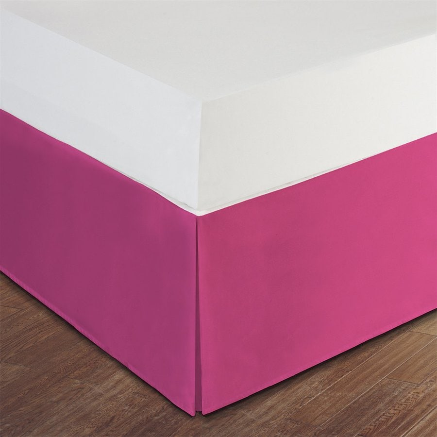 Levinsohn Textile Company Lux Hotel Pink Queen 14-in Bed Skirt