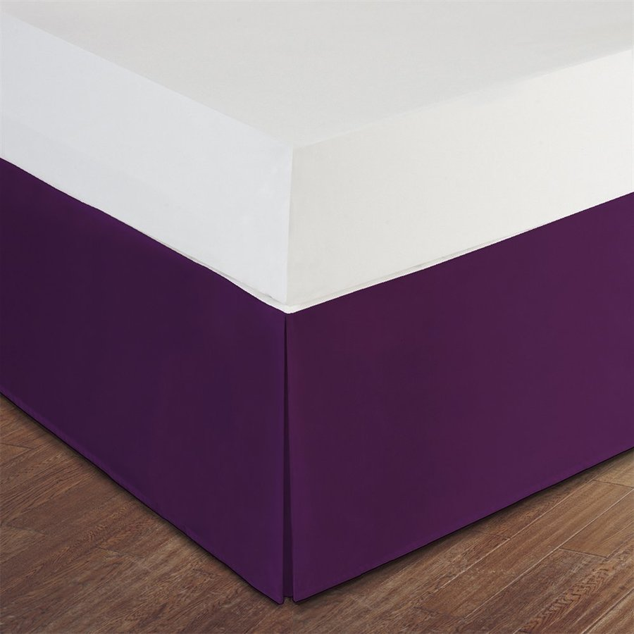 Levinsohn Textile Company Lux Hotel Purple Queen 14-in Bed Skirt