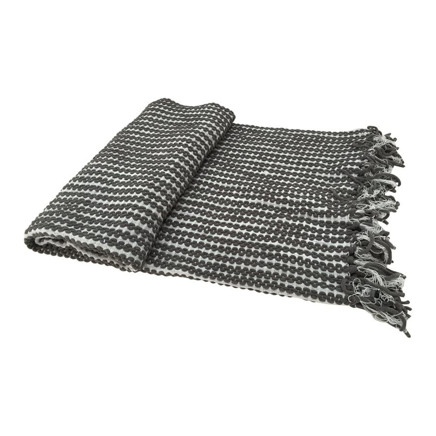 A&B Home Gray Chain 60-in L x 50-in W Acrylic Throw