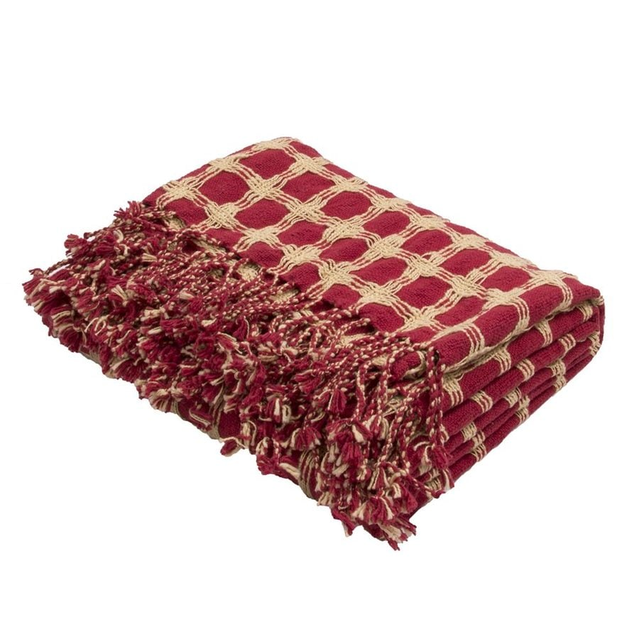 Jaipur Cache Red 71-in L x 51-in W Cotton Throw