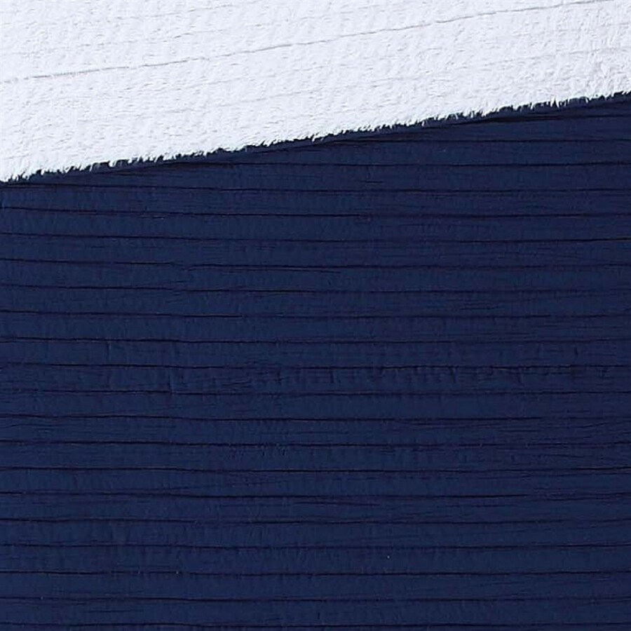 PEM America Outlet London Fog Navy 70-in L x 60-in W Polyester Throw