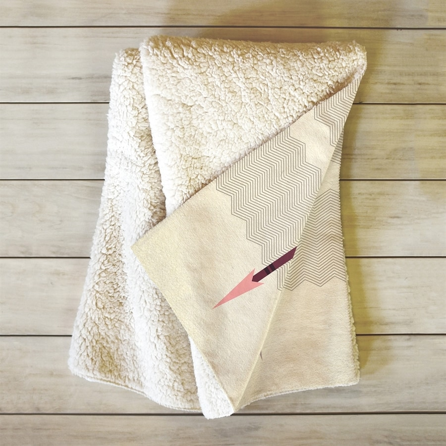 Deny Designs Feathered Arrows White/Cream 60-in L x 50-in W Polyester Blanket
