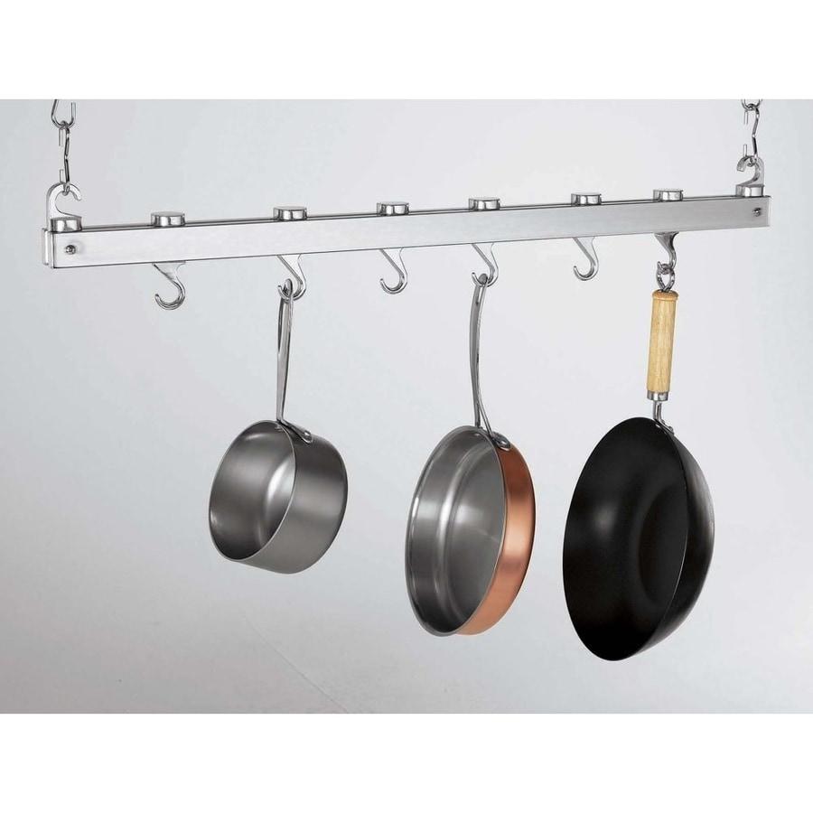 Concept Housewares 36 In X 3 Chrome Bar Pot Rack