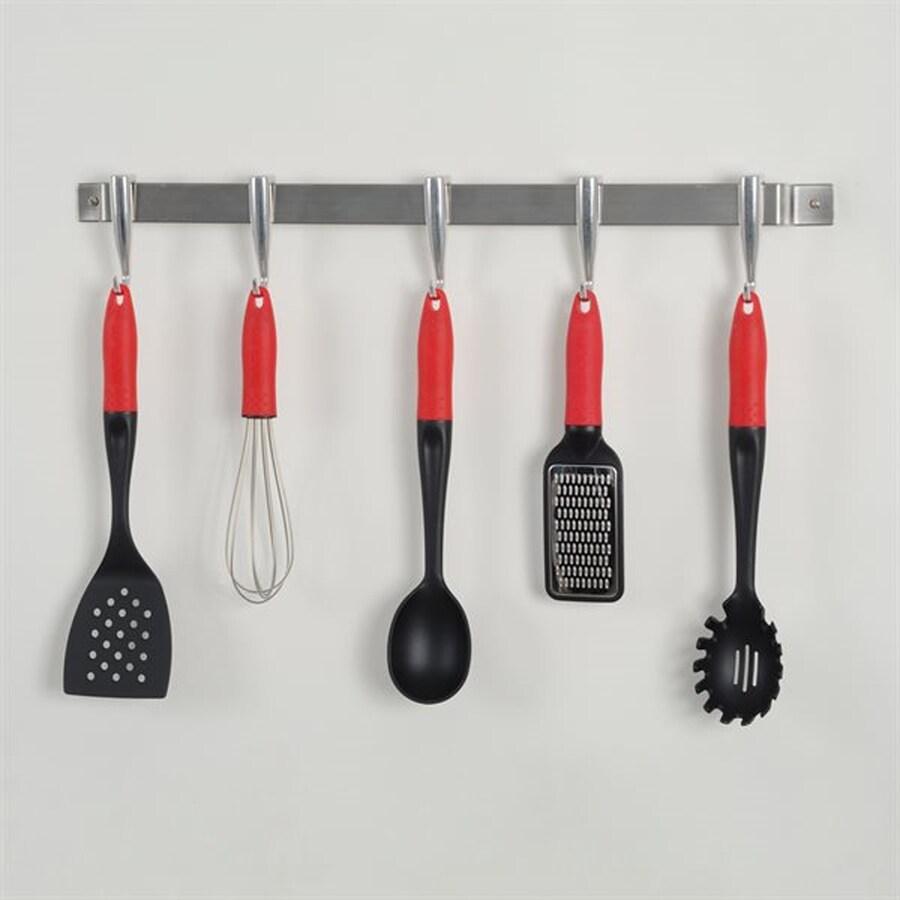Concept Housewares 27-in x 1.5-in Silver Bar Pot Rack