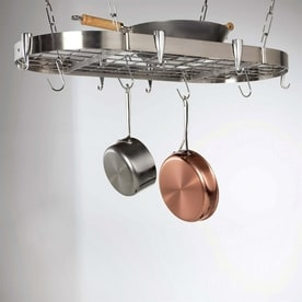 Concept Housewares 40 In X 20 Stainless Steel Oval Pot Rack