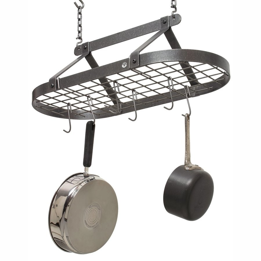 Enclume 14-in x 29-in Gray Oval Pot Rack