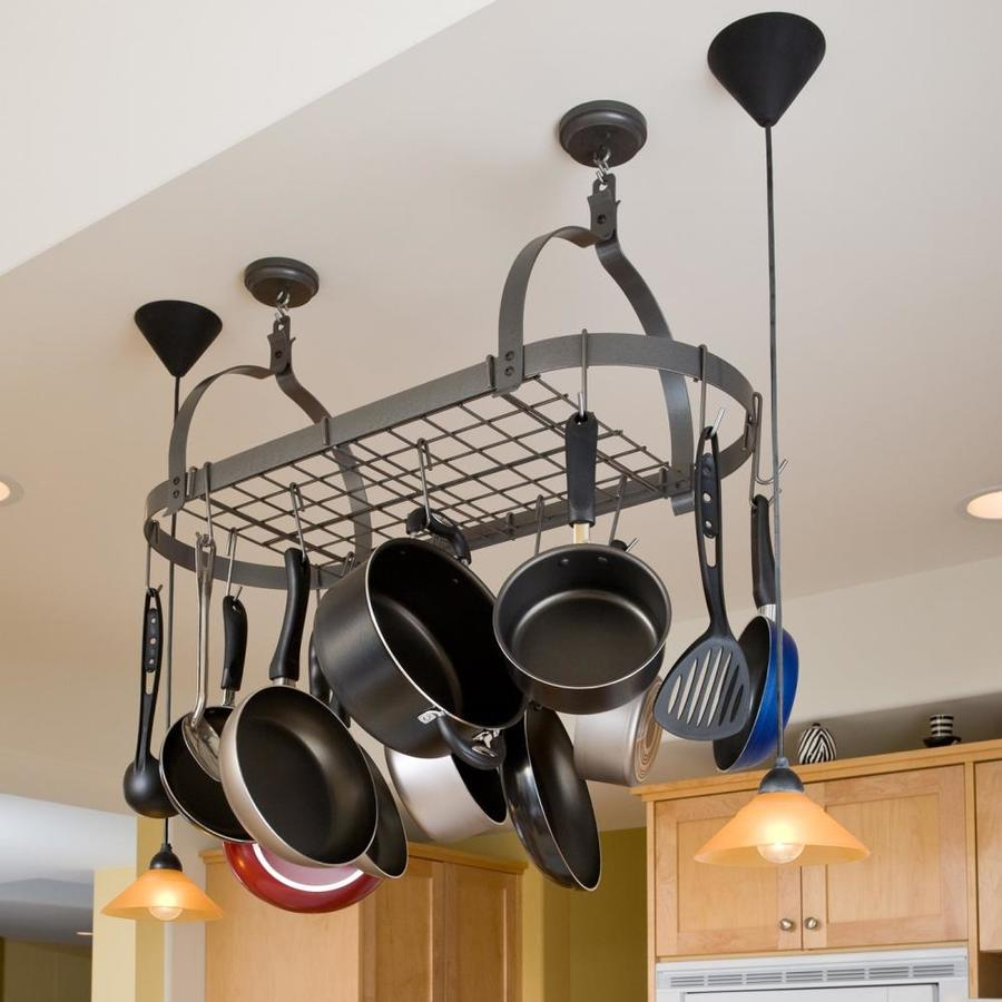 Enclume 14-in x 34-in Gray Oval Pot Rack at Lowes.com